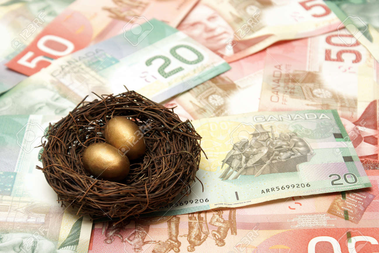 A conceptual image based on creating a wealthy nest egg. Stock Photo - 12365418
