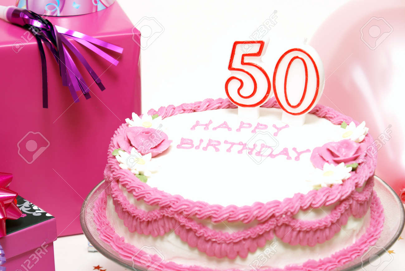 Swell A 50Th Birthday Cake For To Celebrate Someones Special Day Stock Personalised Birthday Cards Akebfashionlily Jamesorg
