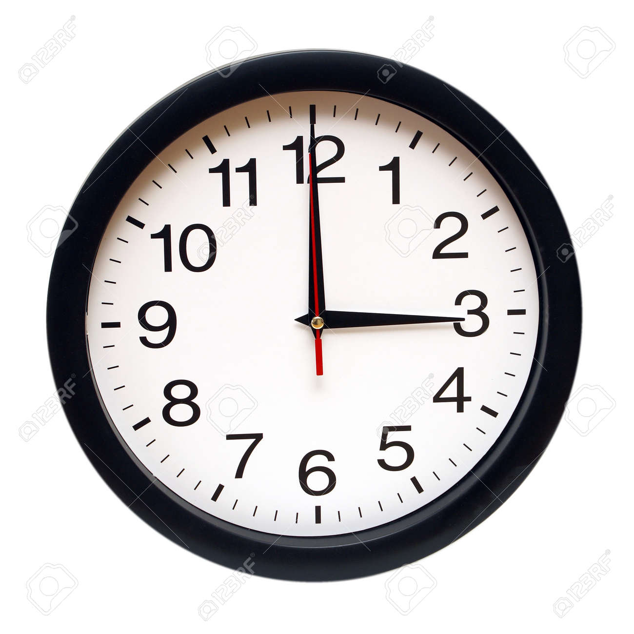 An isolated clock with the time being three am. Stock Photo - 13735463