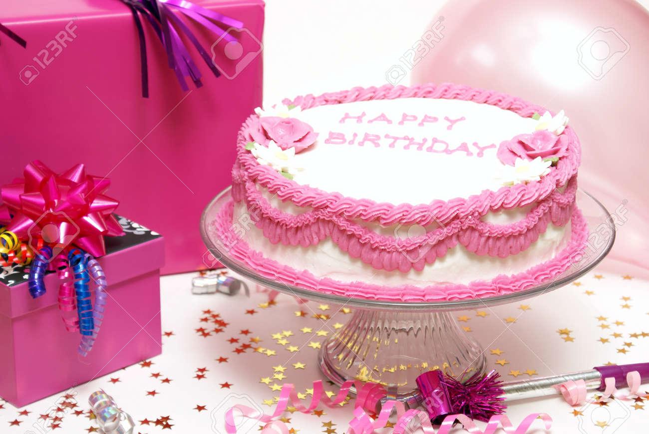 Een Kleurrijke Scène Uit Een Meisjes Verjaardag Partij Royalty