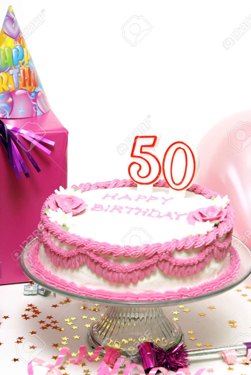 Marvelous A 50Th Birthday Cake For To Celebrate Someones Special Day Stock Funny Birthday Cards Online Fluifree Goldxyz
