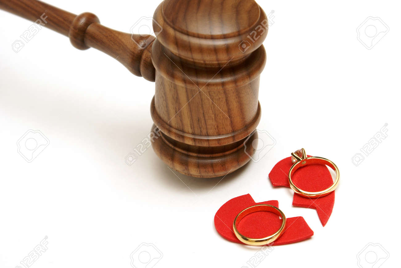 A concept based on the legalities of divorce. Stock Photo - 17328411