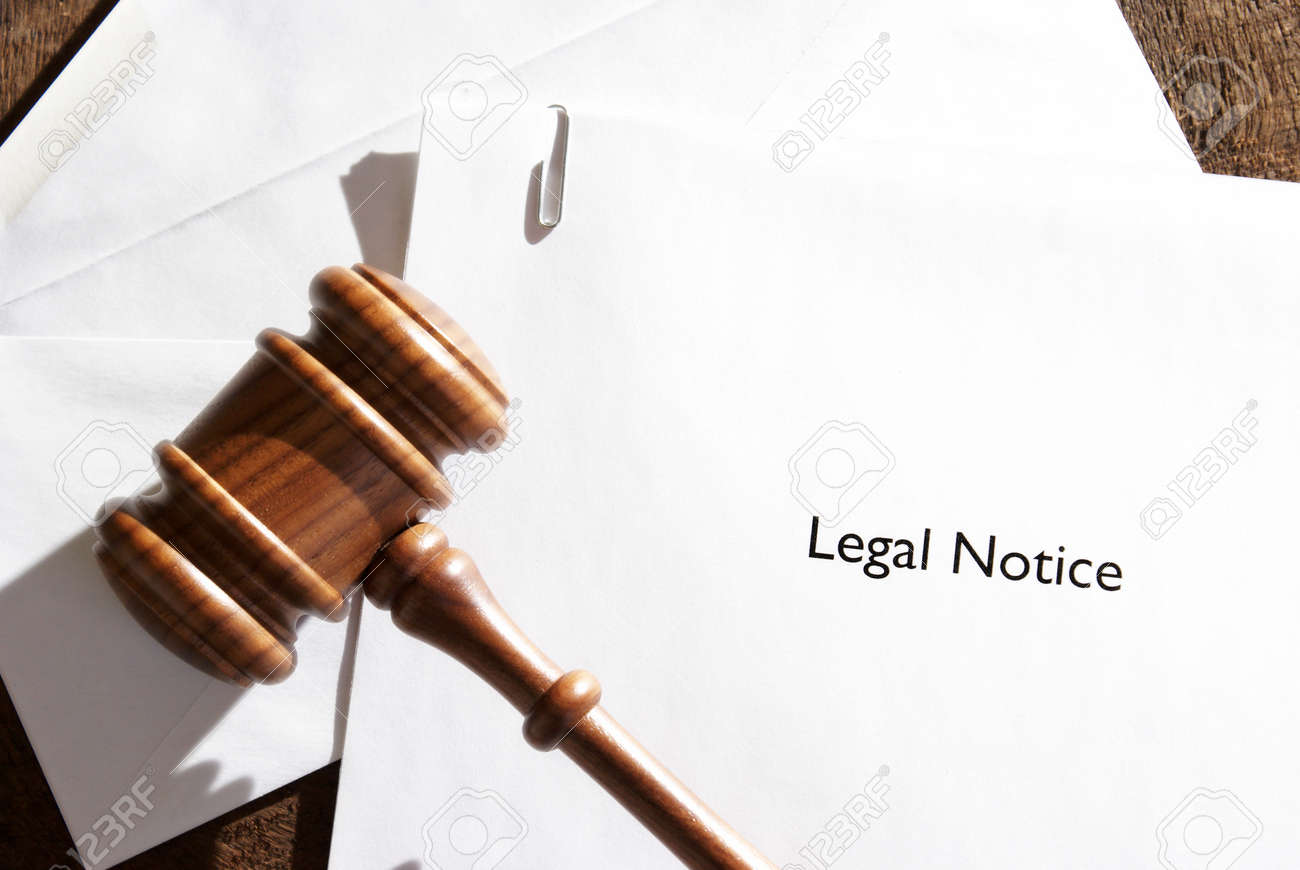 A served envelope of legal notice papers. - 53773977