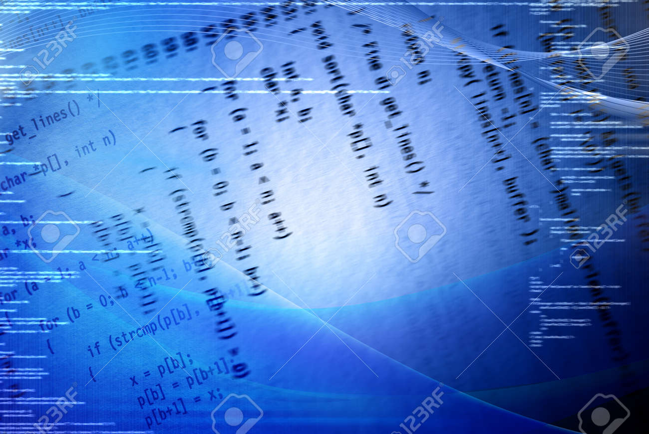 Blue programming concept background with code Stock Photo - 8005377