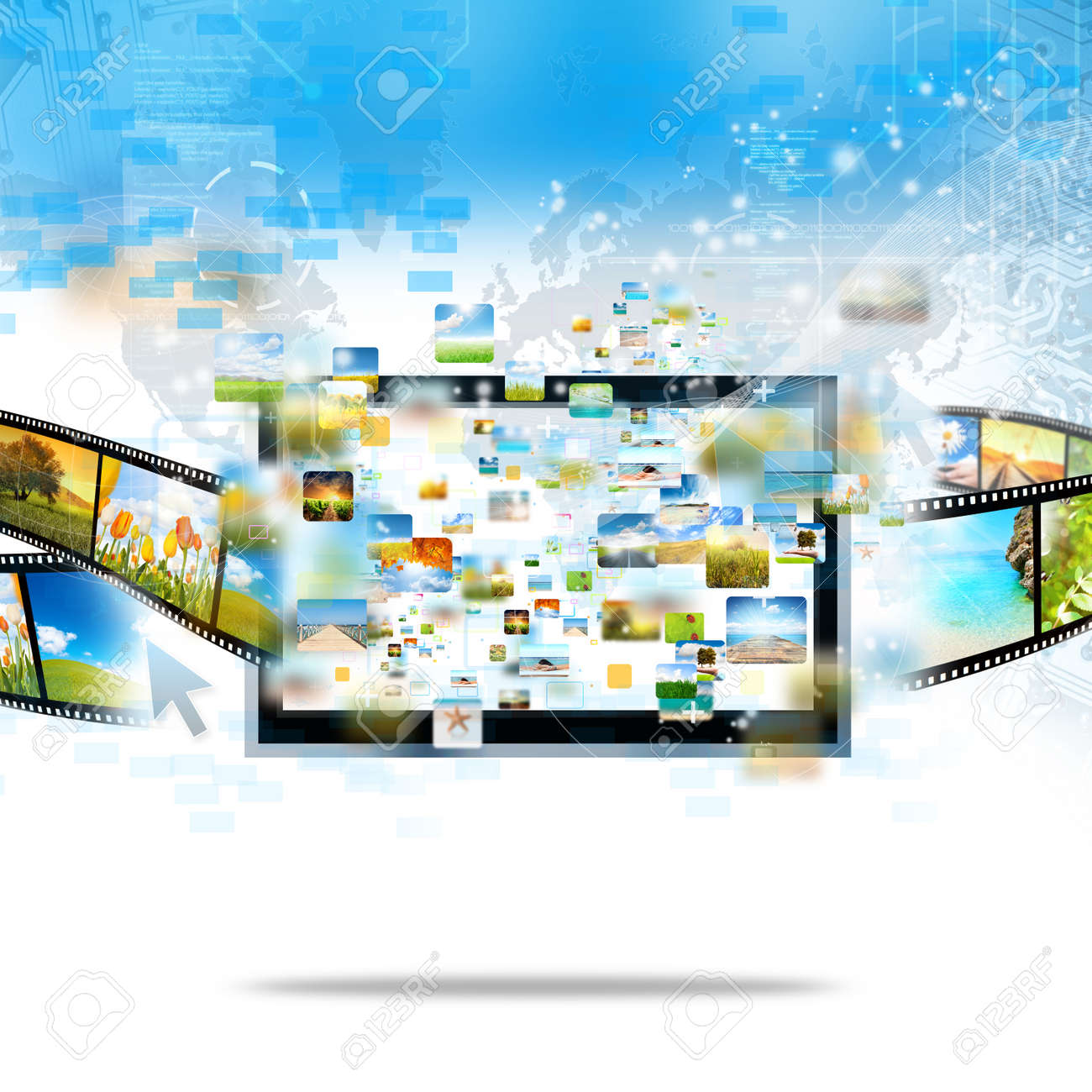 Modern television streaming image and movie Stock Photo - 10535486