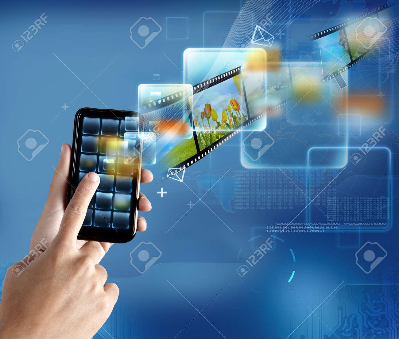 New technology on a modern smartphone Stock Photo - 12322487