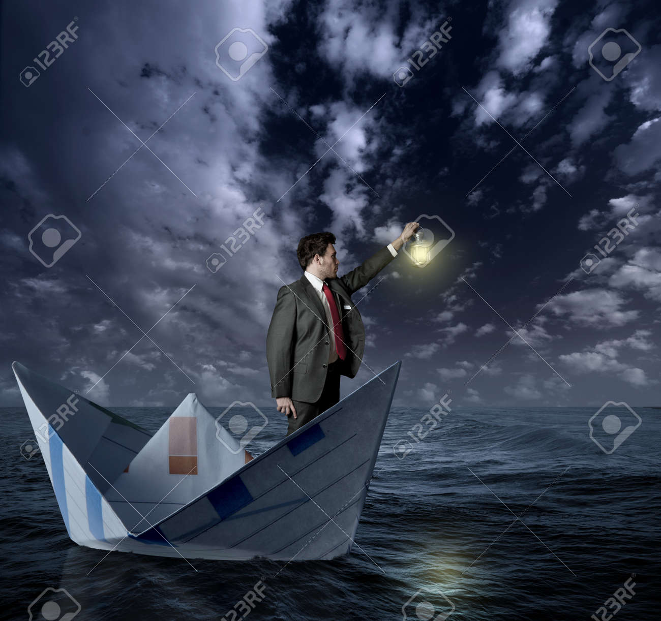 Businessman looking for new affairs Stock Photo - 13702363