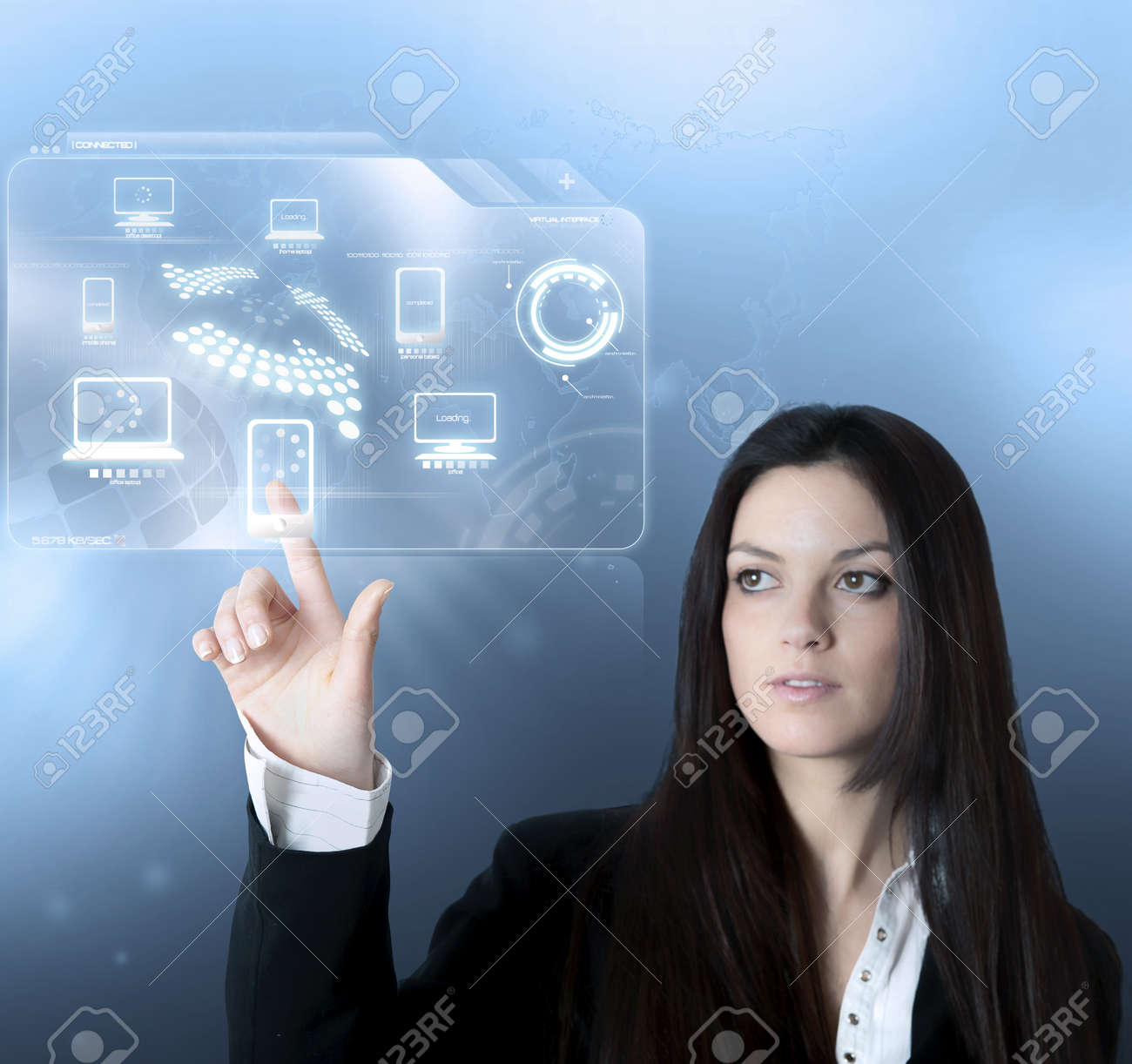 Technology interface with modern device Stock Photo - 14902889
