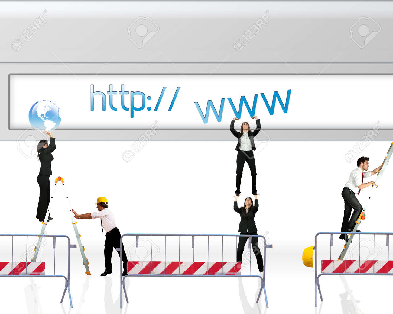 Concept of website under construction Stock Photo - 14962241