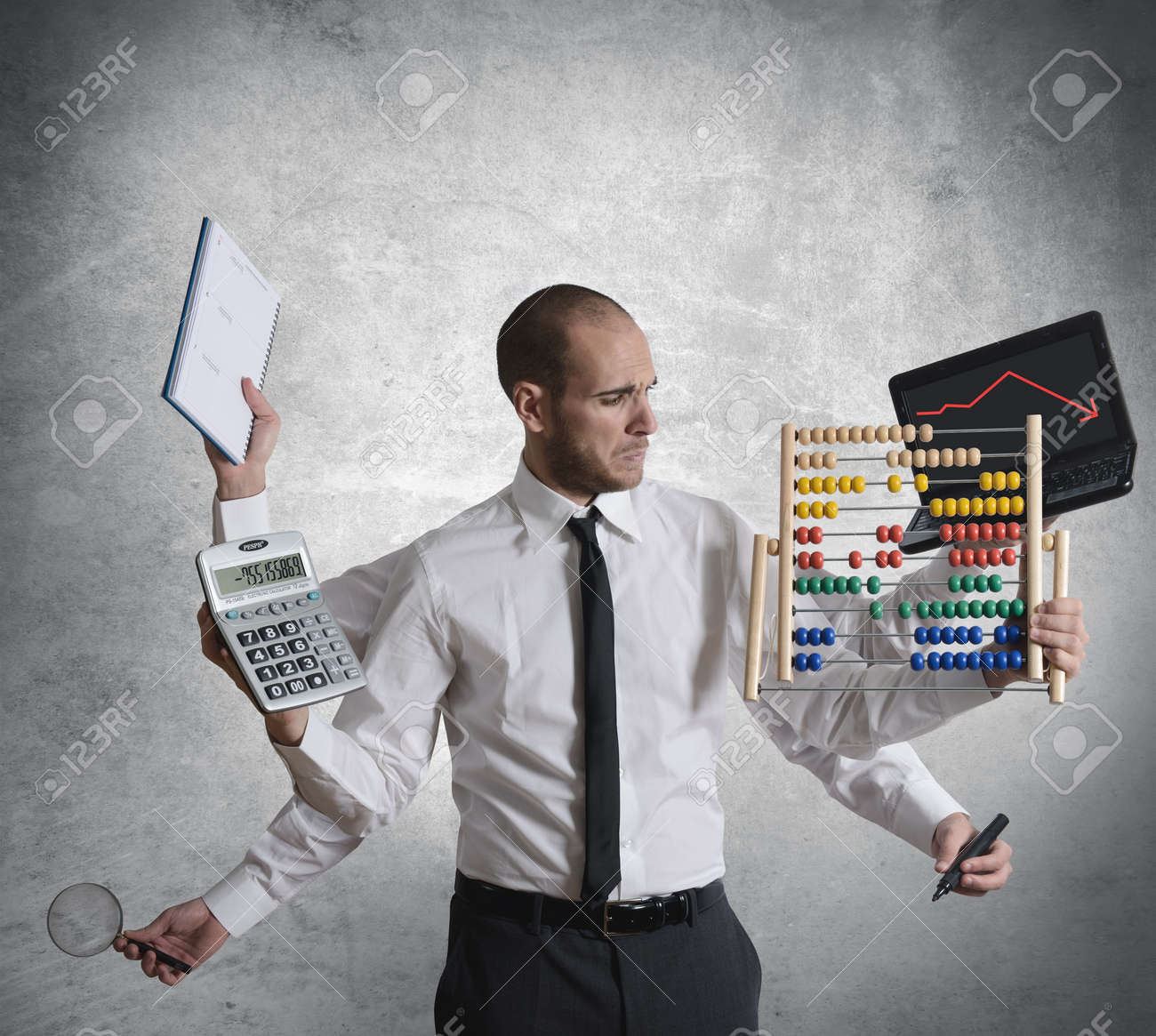 Concept of calculations and crisis Stock Photo - 16252849