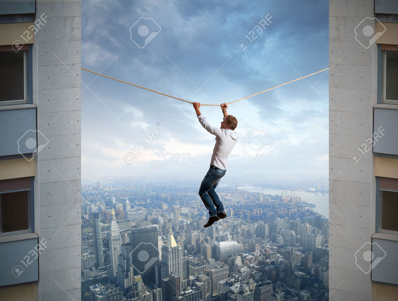 Businessman and difficulties in business Stock Photo - 16252854