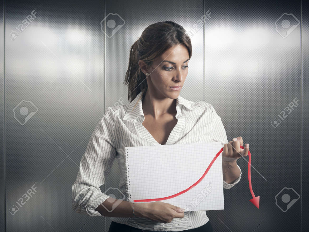 Concept of crisis and failure in business Stock Photo - 16645293