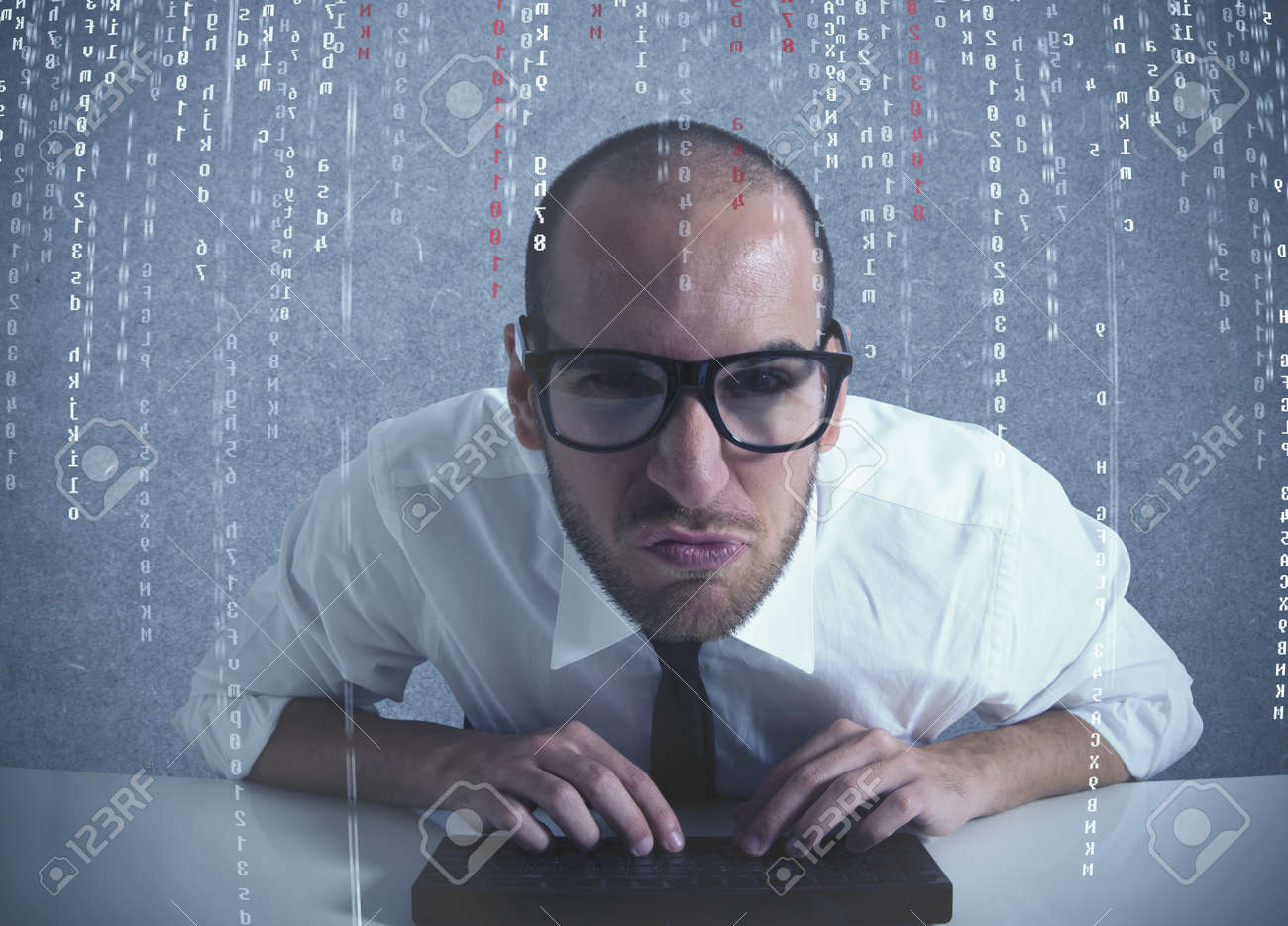 Concept of computer and software programmer Stock Photo - 16828176