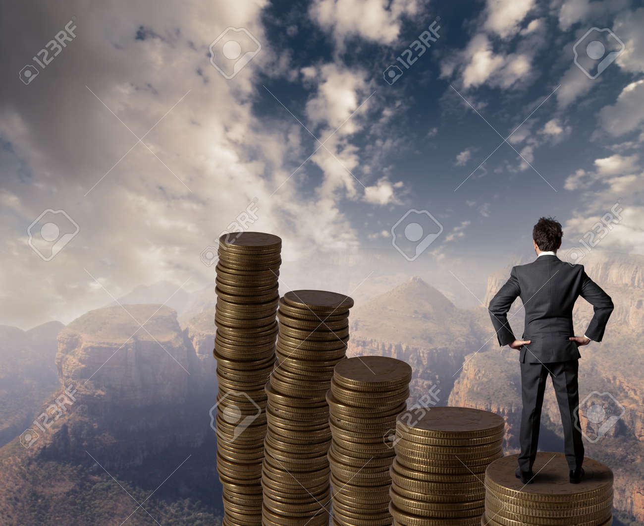 Concept of business and money growth Stock Photo - 16828187