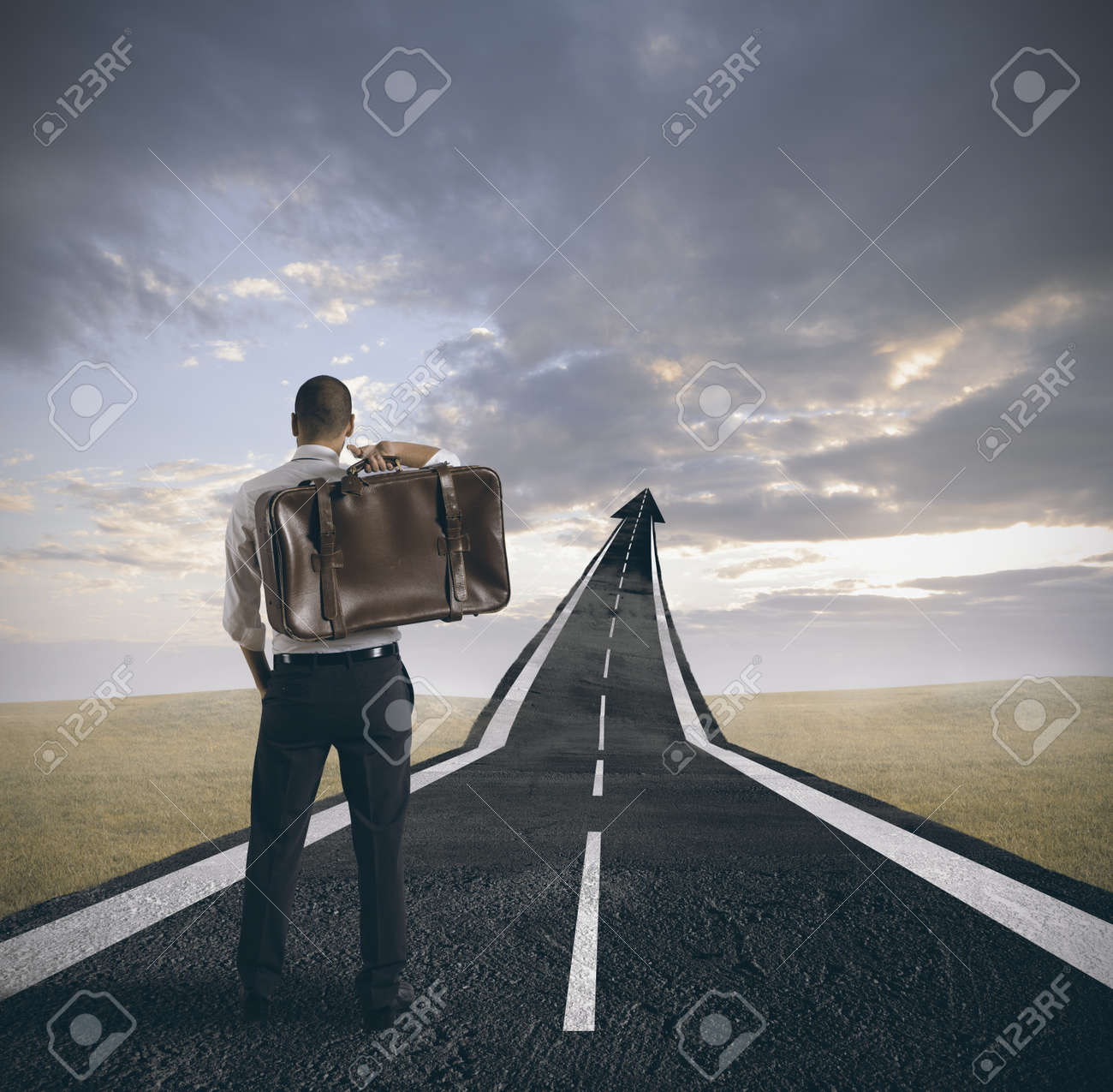 concept of career and success of a businessman stock photo concept of career and success of a businessman stock photo 17155517