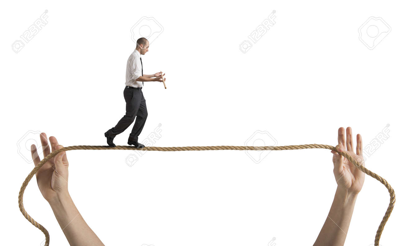Risks and challenges of business life concept Stock Photo - 17798725