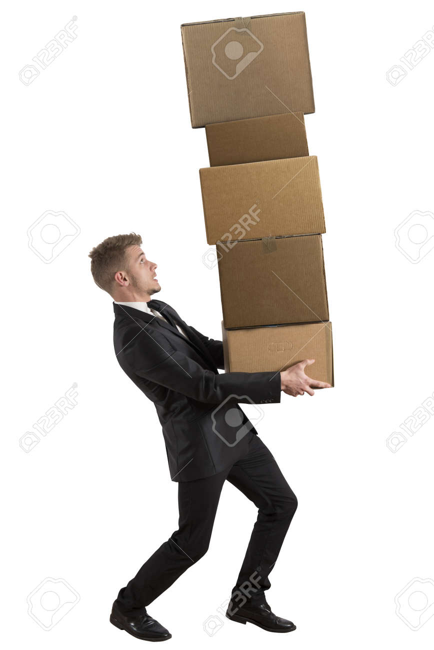 Concept of difficult career of a businessman Stock Photo - 18917879
