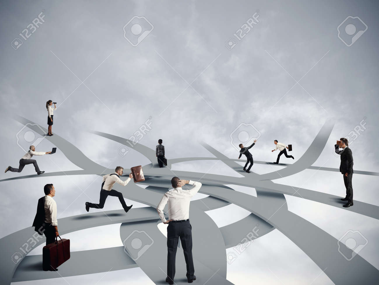 concept of confusion and business career stock photo picture and