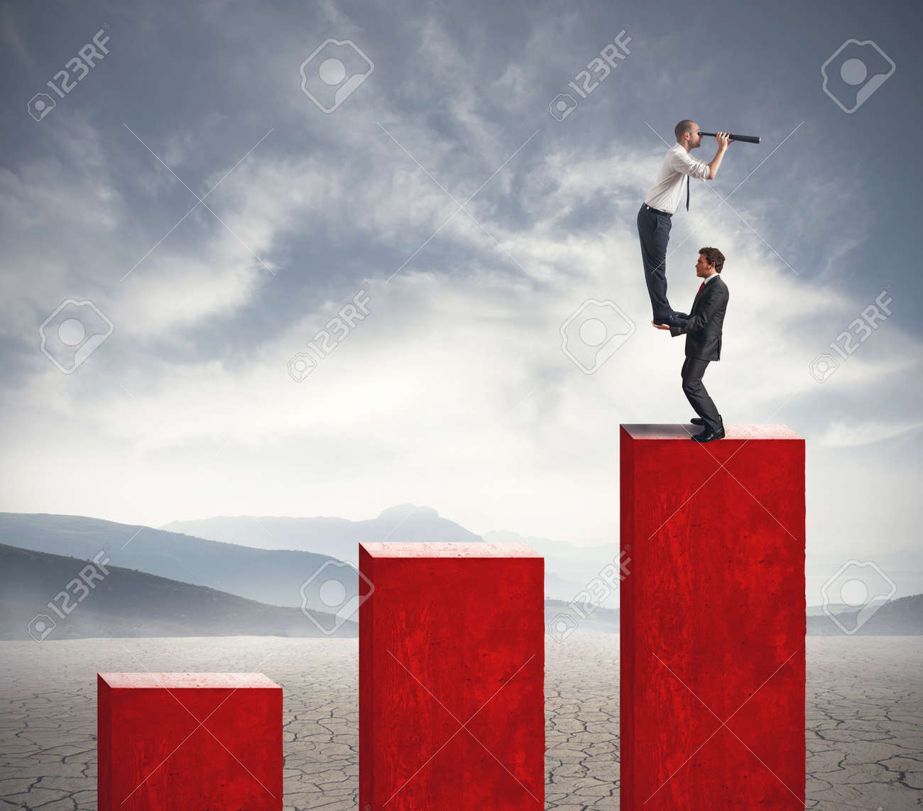 Team of businessman looks for new investment Stock Photo - 19609325