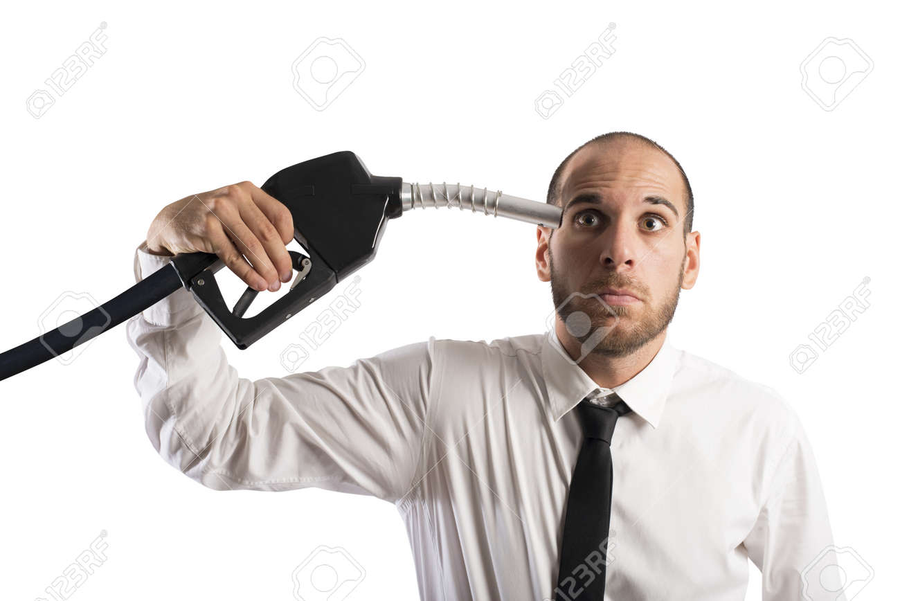 Concept of the increase of the fuel price Stock Photo - 22244323