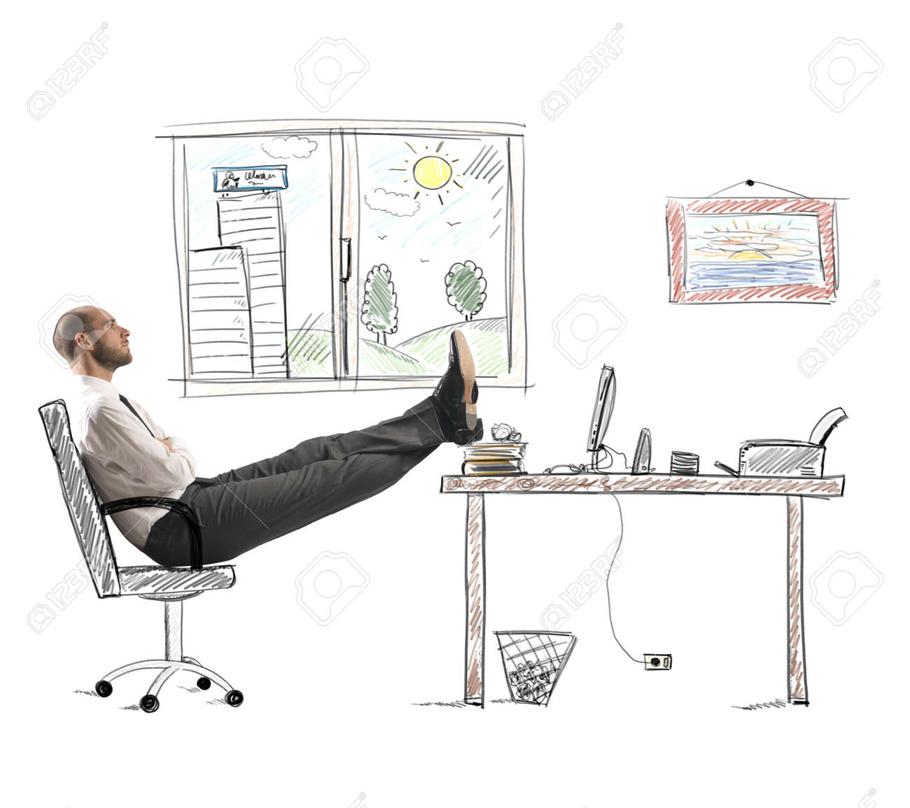 Concept of career and ambition of a businessman Stock Photo - 22638127