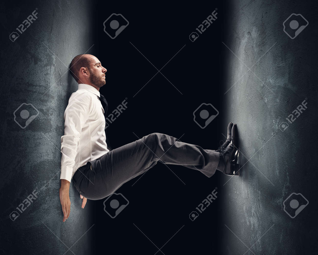 Concept of a stressed businessman under pressure Stock Photo - 26459582