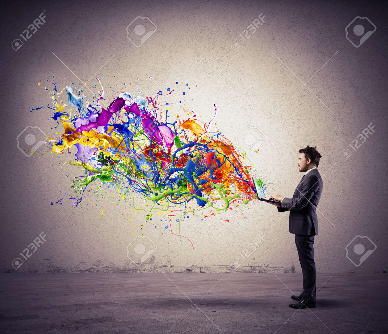 Concept of creative technology with colorful effect Stock Photo - 29196117