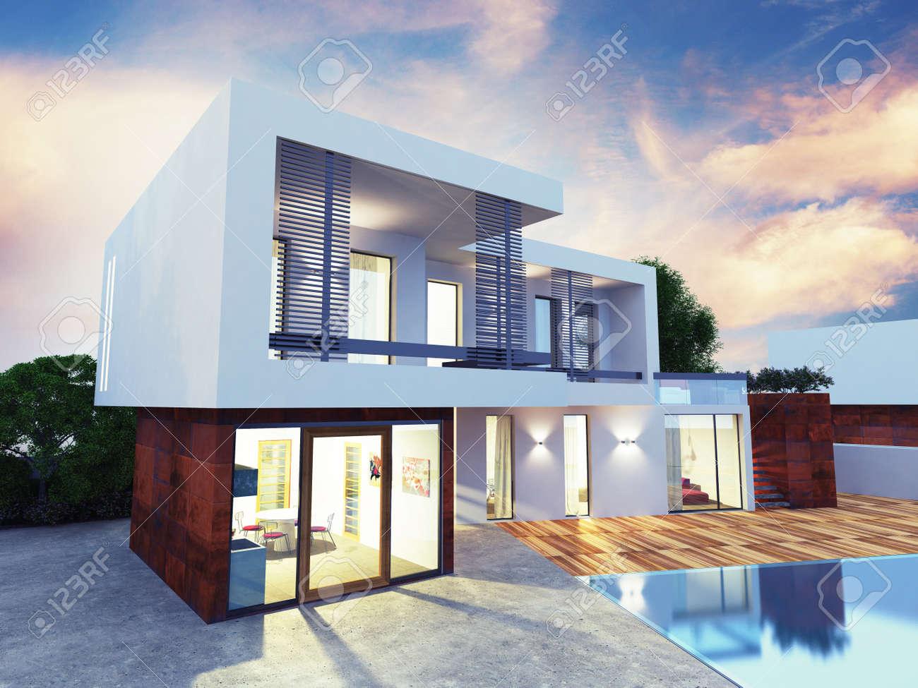 Progetti Esterni Case : Disegni di case moderne. beautiful casa in legno urb with disegni di