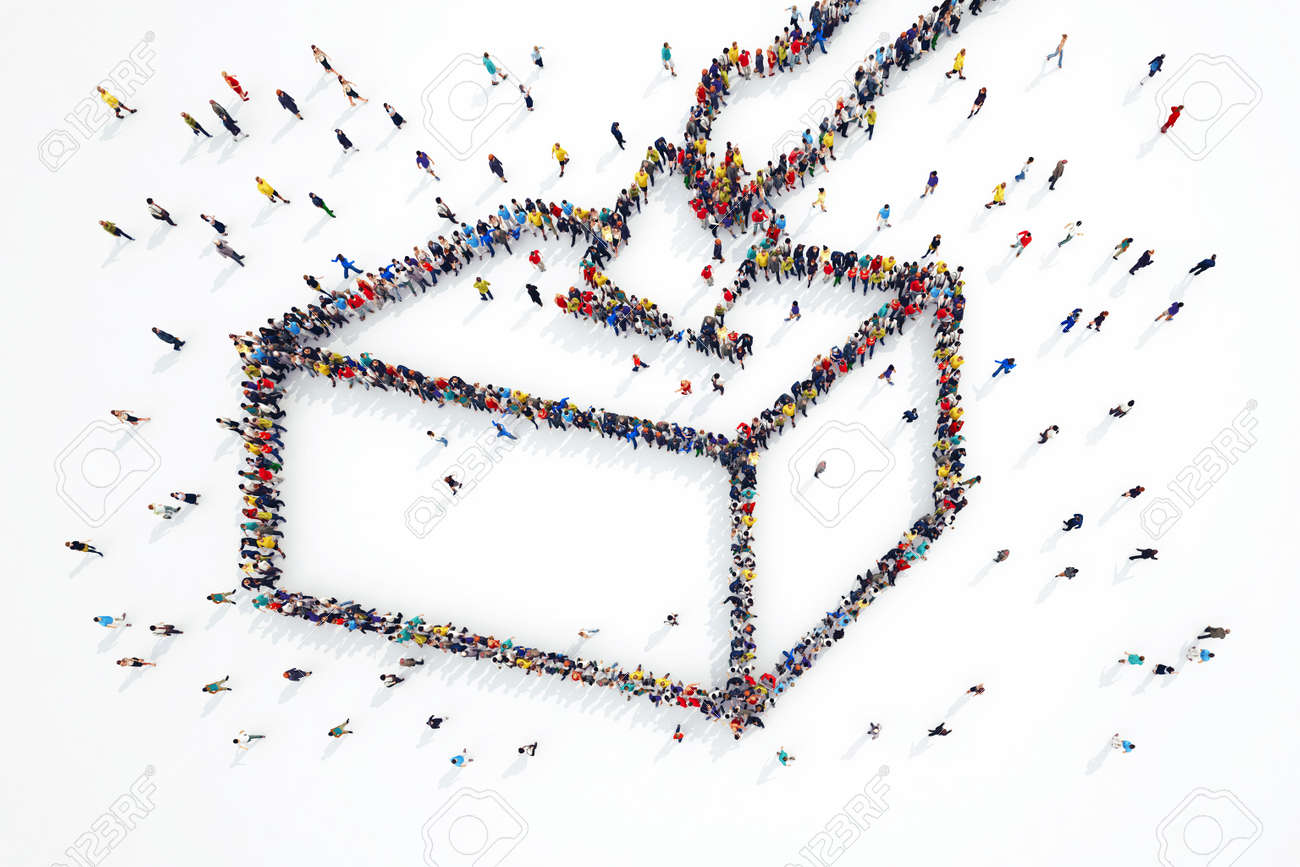 3D rendering of people forms elections symbol Standard-Bild - 55674751
