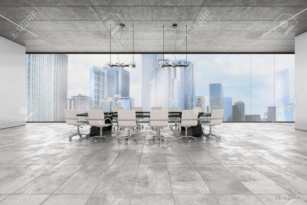 Ufficio Di Lusso : Ufficio direzionale di lusso con finestra vista sulla città