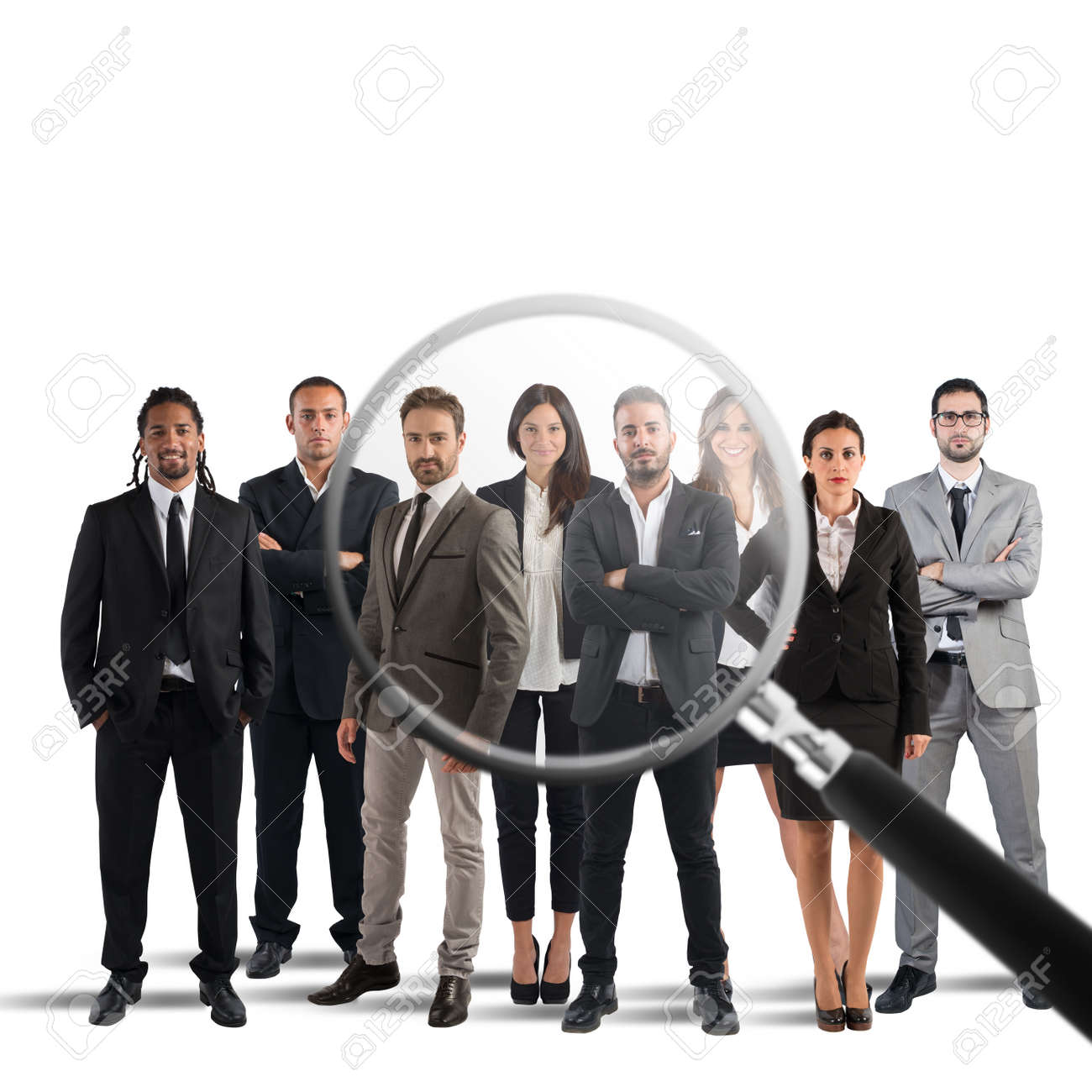 Magnify lens on a only a few suitable candidates to the workplace - 66522413