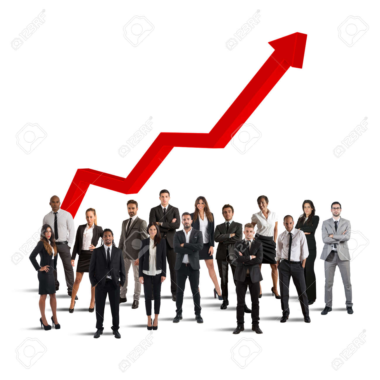 Businesspeople Of Successful Company Stock Photo, Picture And Royalty Free  Image. Image 72163883.