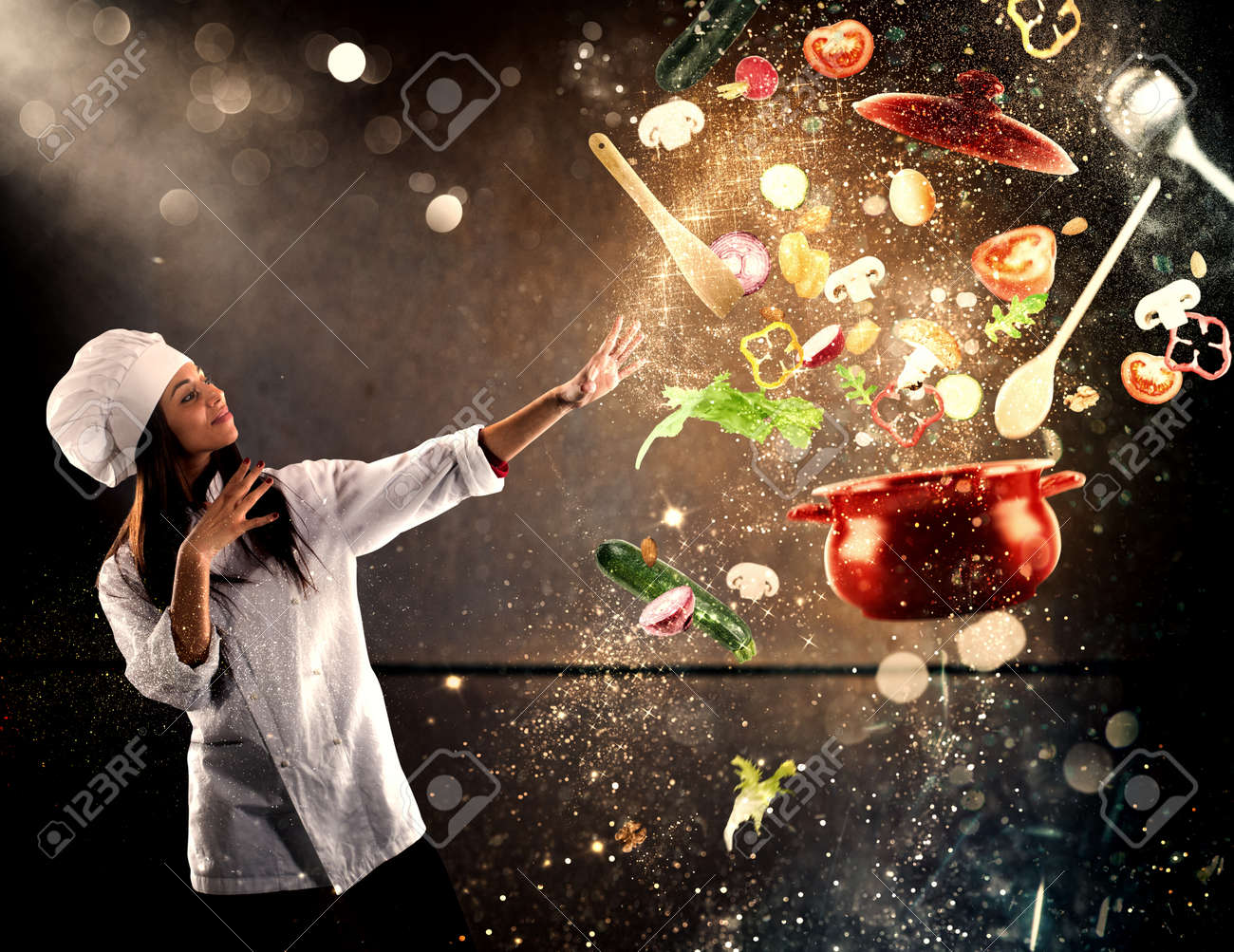 Magic chef ready to cook a new dish - 86541016