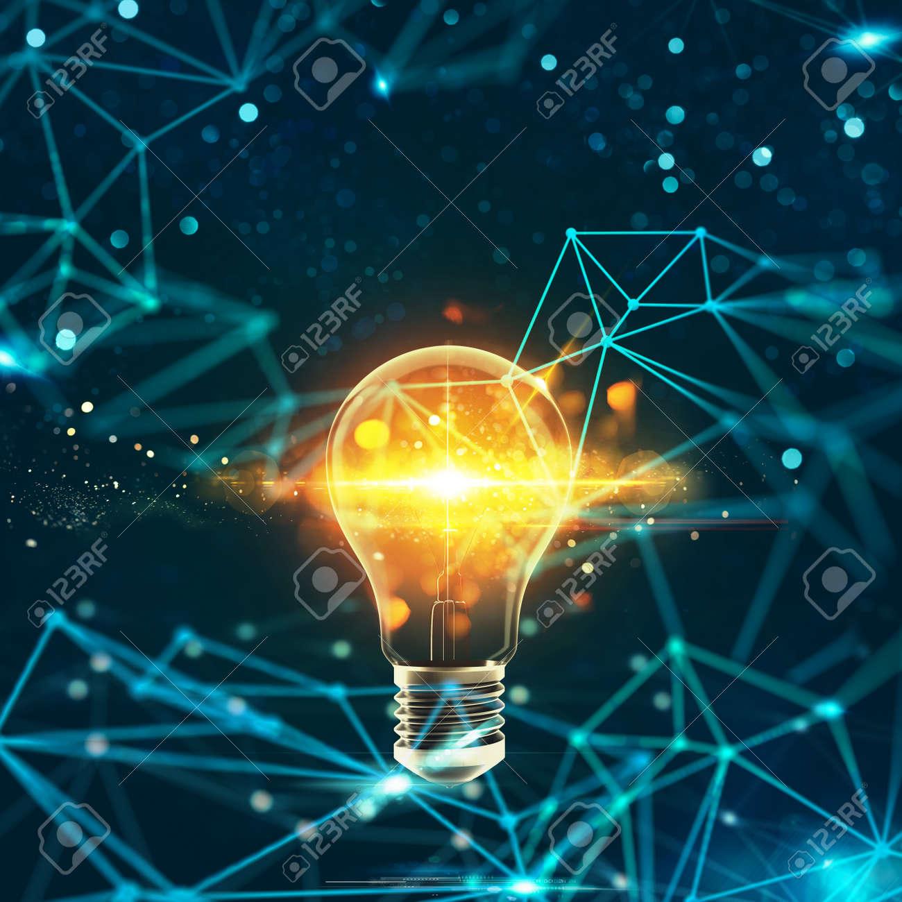 Innovation in the digital world. 3D Rendering - 95860881