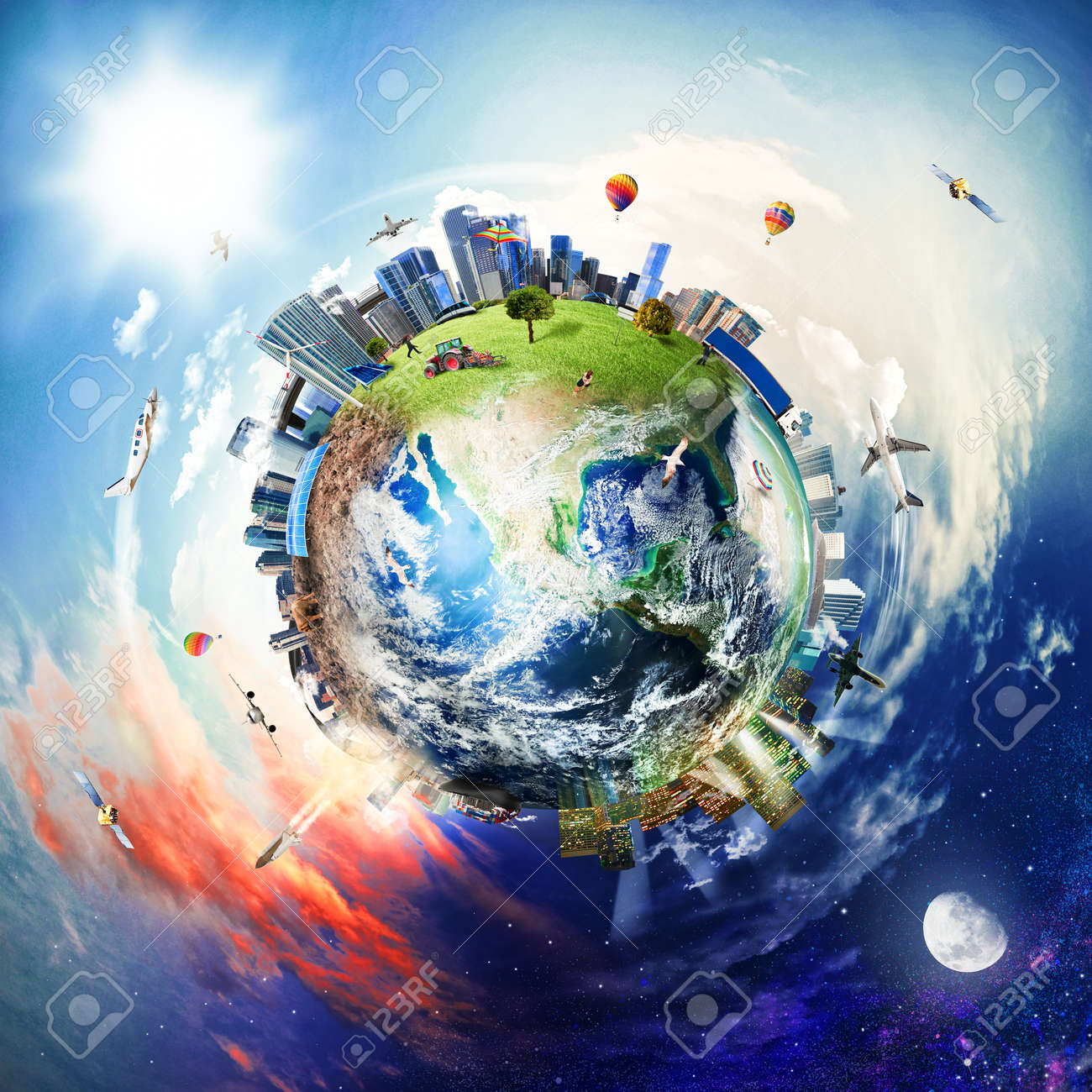 Global view of business world - 126006272