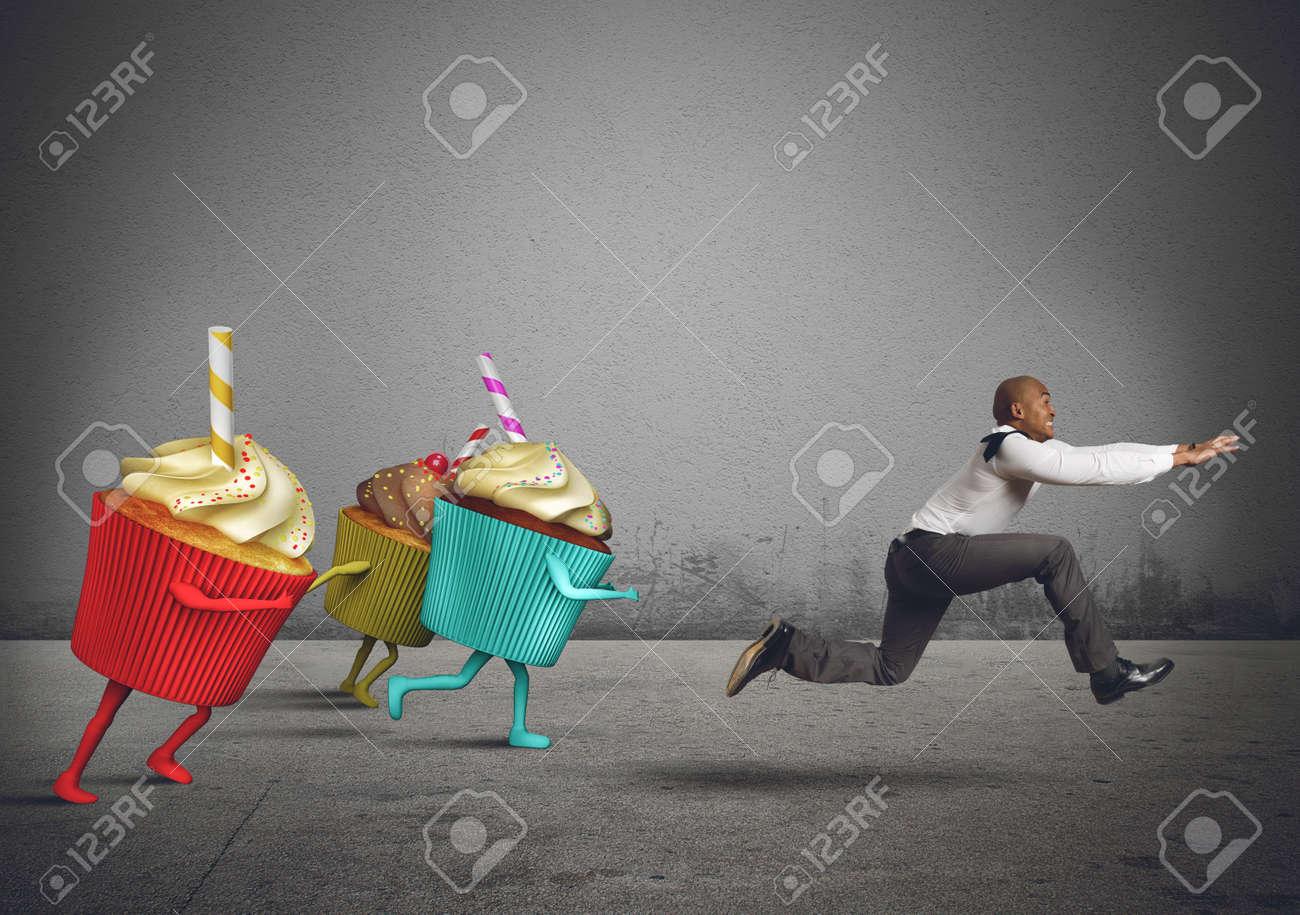Man runs away - 128599782