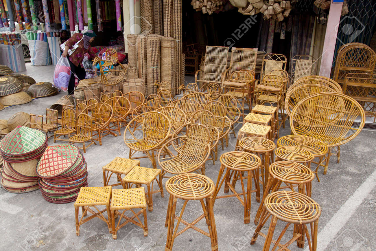 Merveilleux SARAWAK, MALAYSIA JUNE 2: Furniture And Household Items Made From Rattan  And Bamboo