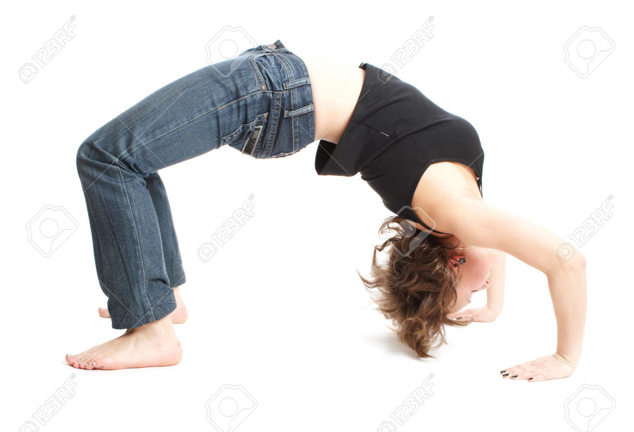 beautiful girl does sports exercises Stock Photo - 2587335