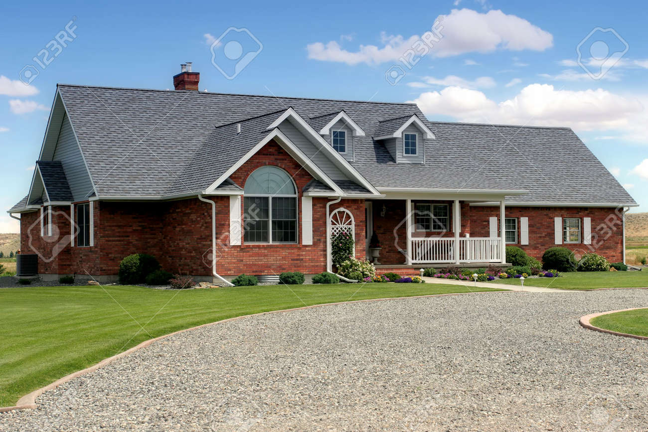 contemporary american house, recently constructed Stock Photo - 217825