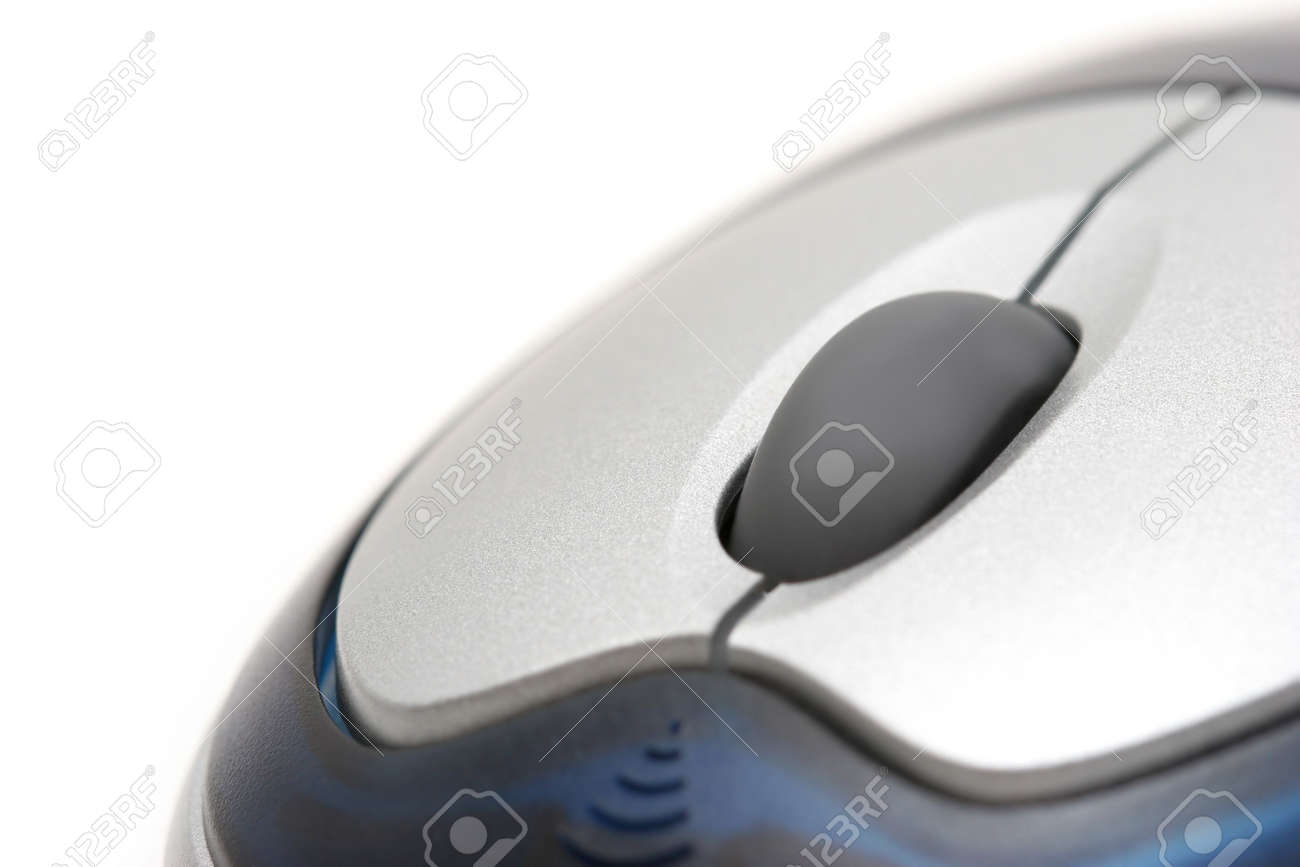 mouse macro - cordless with scroll wheel, over white