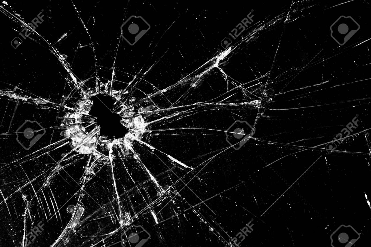 Broken glass cracked with hole over black stock photo picture and broken glass cracked with hole over black stock photo 411955 voltagebd Gallery