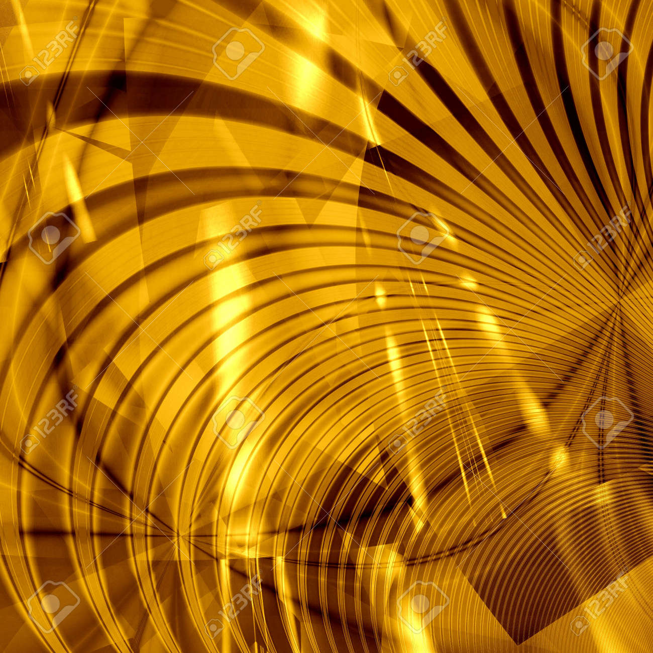 Computer Generated Golden Abstract Wallpaper