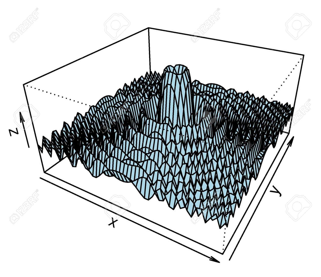 Trama De Superficie 3D Del Modelo Matemático Ilustraciones ...