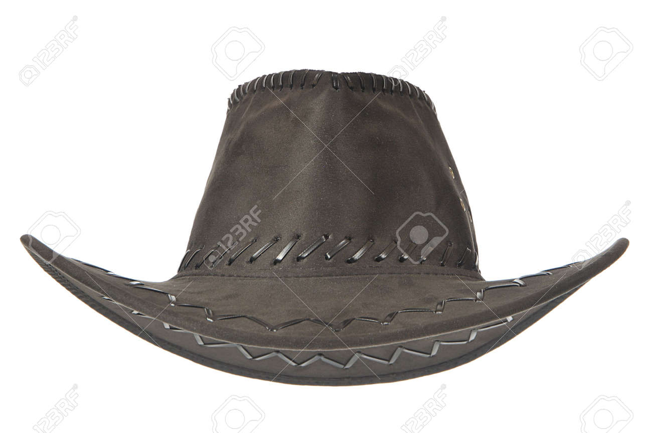 A black cowboy hat in front on white background. Stock Photo - 6584143 555ab4e2996