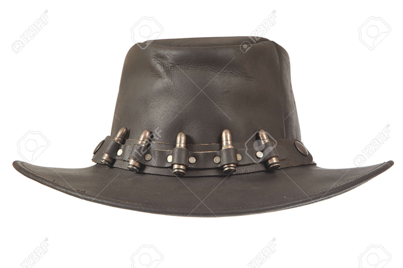 A brown cowboy hat in front on white background. Stock Photo - 6659134 63af2484522