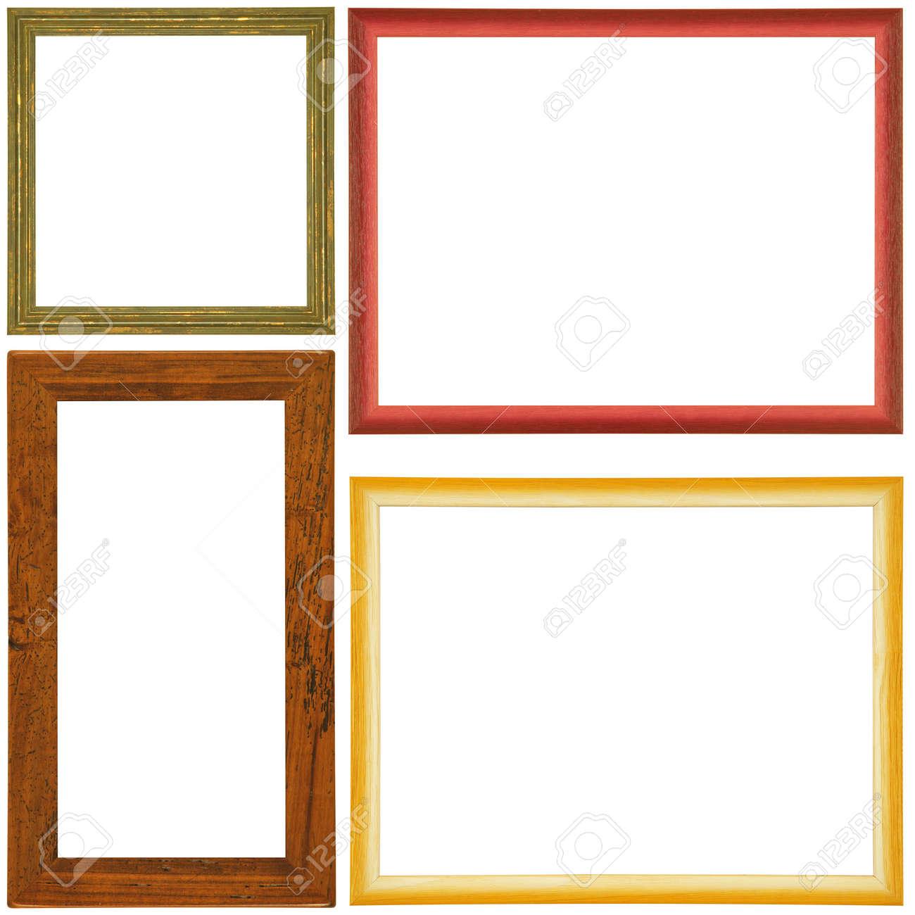 Jahrgang Bilderrahmen, Holz Vergoldet, Mit Weißem Hintergrund ...