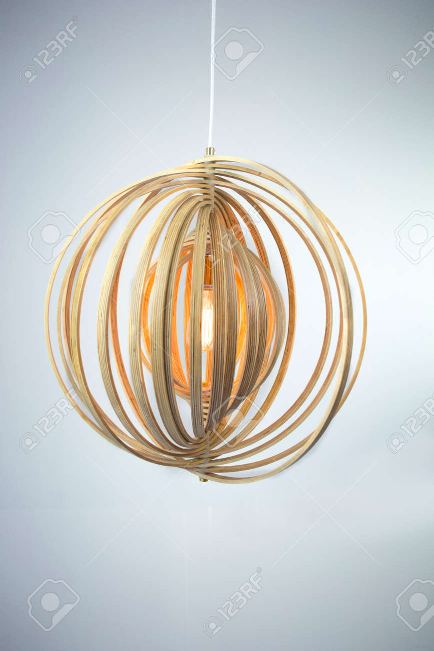Nordic Wood Pendant Lamp Stock Photo Picture And Royalty Free Image Image 57646935
