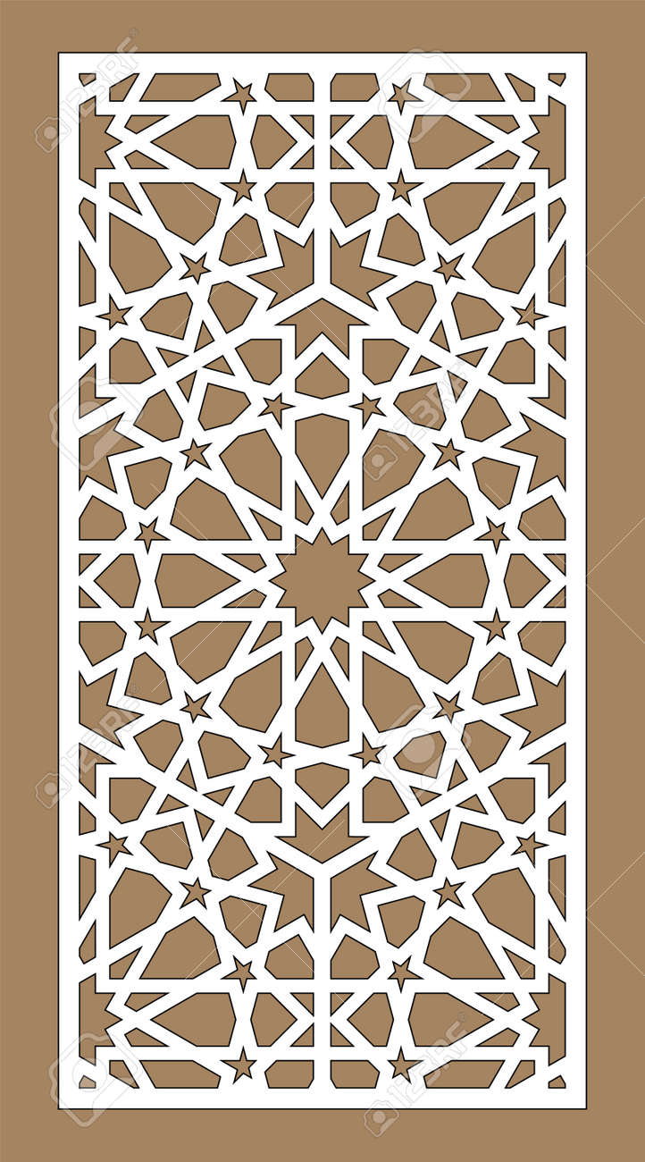 Laser Cut Decorative Vector Panel Set Privacy Fence Jali Design Royalty Free Cliparts Vectors And Stock Illustration Image 149292193