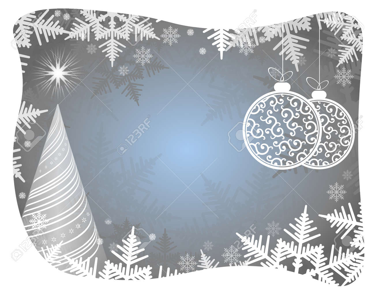 christmas light blue background with christmas tree snowflakes and white beads stock vector 67767245