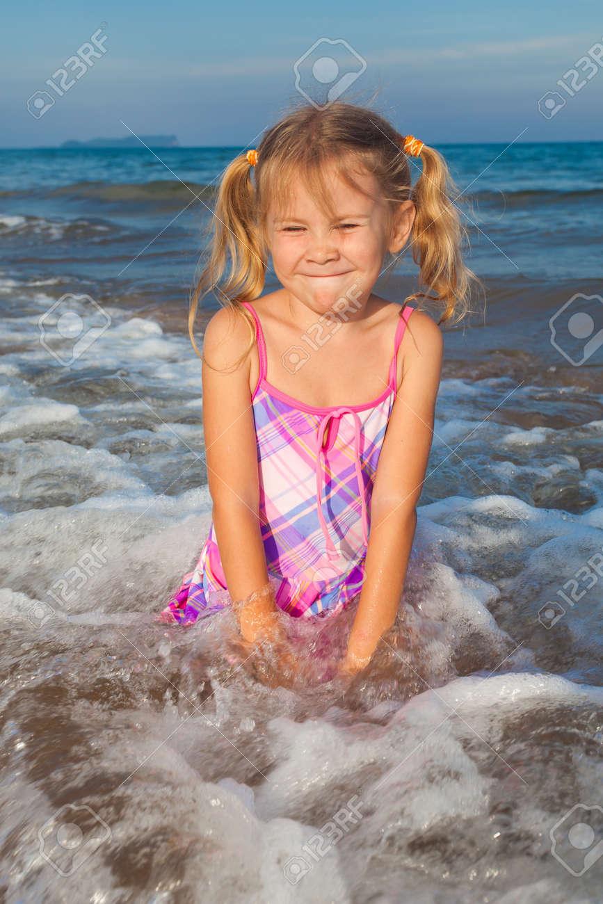 happy child on the beach Stock Photo - 17531830